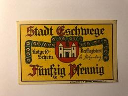 Allemagne Notgeld Allemagne Eschwege 50 Pfennig - [ 3] 1918-1933 : République De Weimar