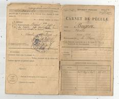 Carnet De Pécule , 206 E Régiment D'Infanterie , 1917 , 20 Timbres ,7 Scans , Frais Fr 1.95 E - Old Paper