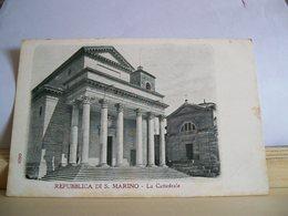 Repubblica Di S. Marino - La Cattedrale - Chiesa - Premiata Ditta Rag. A. Reffi - Cartolina D'epoca - San Marino