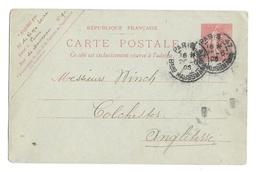 France 10c Sower Postal Stationery Card 1905 Paris Baron Haussmann Cancel To England - Postal Stamped Stationery