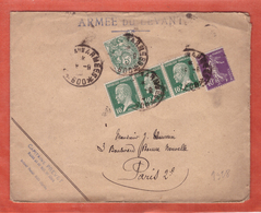 SYRIE LETTRE ARMEE DU LEVANT DE 1928 POUR PARIS FRANCE - Syria (1919-1945)