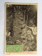 C.P.A. : TAHITI : Dieu De RIMATARA, Fétiche Tahïtien ( RURUTU), Timbres En 1912 - Tahiti