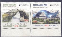2018. Georgia, Europa 2018, 2v, Mint/** - Géorgie