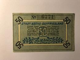 Allemagne Notgeld Allemagne Esens 50 Pfennig - [ 3] 1918-1933 : République De Weimar