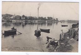 CORBEIL Vue Sur La Seine Les Tarterets Et L'Usine Decauville (lavandieres) - Corbeil Essonnes