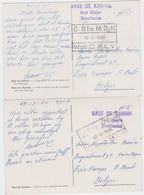 CONGO-2 POSTCARDS-FROM-KATANGA-BASE De KAMINA-Etat Major-1960 + Cancel Verdeelcentrum C.M. L.V.D.-VOYEZ LES  2 SCANS !! - Congo Belge