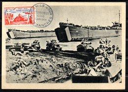 Débarquement Arromanches // Premier Jour FDC //  1 Carte // 5 Juin 1954 - FDC