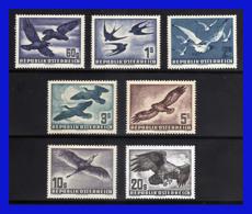 1950 - 53 - Austria - Scott. C 54 / C 60 ** - MNH - AU-234 - 02 - Gran Lujo - Águilas & Aves De Presa