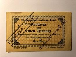 Allemagne Notgeld Allemagne Ettal 1 Pfennig - [ 3] 1918-1933 : République De Weimar