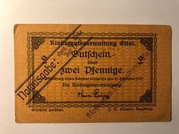 Allemagne Notgeld Allemagne Ettal 2 Pfennig - [ 3] 1918-1933 : République De Weimar
