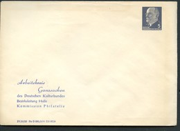 DDR PU14 B2/001b Privat-Umschlag ARBEITSKREIS GANZSACHEN Halle 1965 - Private Covers - Mint