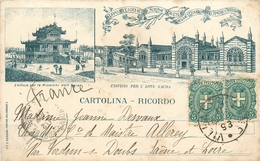 TORINO - TURIN - CPA ILLUSTREE PRECURSEUR - EXPOSITION D'ART SACRE - 1898 - Expositions