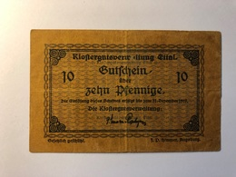 Allemagne Notgeld Allemagne Ettal 10 Pfennig - [ 3] 1918-1933 : République De Weimar