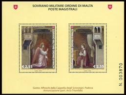 SMOM - ORDINE DI MALTA 2016 BF CICLI PITTORICI 2^ EMISS. OFFERTA 60% DEL FACCIALE! - Malta (Orde Van)