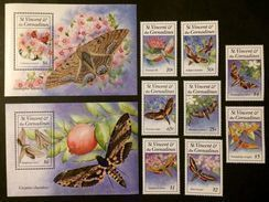 St.Vincent 1993** Mi.2428-35,bl.278,279. Insects MNH [21;49] - Insects