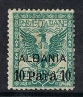 Italian Post Offices - Albania SG18 1902 Definitive 10pa On 5c Mounted Mint [9/10586/7D] - 11. Foreign Offices