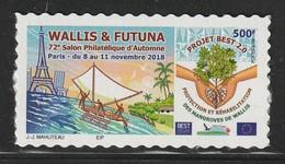 WALLIS Et FUTUNA - 2018 - TIMBRE ADHESIF : 72e Salon Philatélique D'automne - Wallis-Et-Futuna