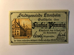 Allemagne Notgeld Allemagne Ettenheim 50 Pfennig - [ 3] 1918-1933 : République De Weimar