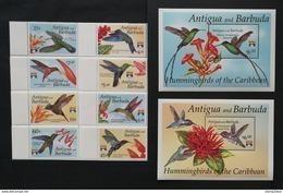 Antigua&Barbuda 1994** Mi.1655-62 + Bl.238, 239. Birds [13;109] - Hummingbirds