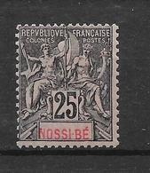 NOSSI BE - N° 34 NEUF * - COTE = 17.50 € - Nossi-Be (1889-1901)