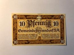 Allemagne Notgeld Allemagne Hermsdorf 10 Pfennig - [ 3] 1918-1933 : République De Weimar