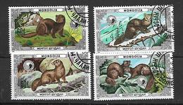 Mongolia  1986 Protected Animals - Mink Used - Mongolie