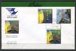 Kuwait 2003. Yvert 1693-95 FDC. - Kuwait