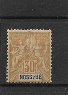 NOSSI BE - N° 35 NEUF * - COTE = 20.00 € - Nossi-Bé (1889-1901)