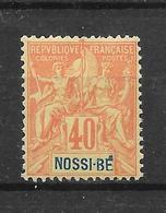 NOSSI BE - N° 36 NEUF * - COTE = 25.00 € - Nossi-Bé (1889-1901)