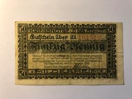 Allemagne Notgeld Allemagne Hildesheim 50 Pfennig - [ 3] 1918-1933 : République De Weimar
