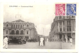 Sri Lanka . CEYLON . Continental Hotel . Expediée De HANOI Via KOBE . CACHET PAQUEBOT  . - Sri Lanka (Ceylon)