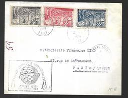 T.A.AF LETTRE DU 15  01   1958 TERRE ADELIE  Pour Paris - Terres Australes Et Antarctiques Françaises (TAAF)