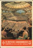 1932, DEUTSCHES SÄNGERBUNDESFEST Official Card With Special Posmark - Musique