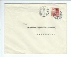 Färöer ,echt Gelauf.Bedarfs- Brief,  Gute Erhaltung , Selt . Stp. ! R !!  #a1574 - Färöer Inseln