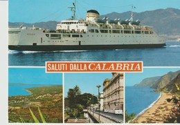 CPA - PHOTO - SALUTI DALLA CALABRIA - MULTIVUES - BATEAU - 535 - - Italie