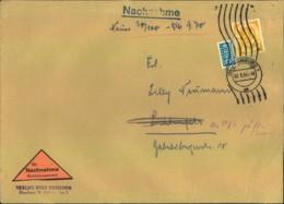 1954, 70 Pfg. Posthorn Auf Großformatiger Nachnahme Ab HAMBUG (Mi-Nr. 136) - BRD