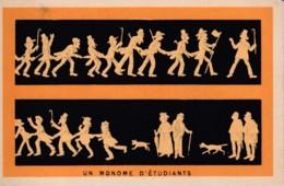 Chromo Au Sans Pareil  Clermond Ferrand ..  Robes, Trousseaux, Layette . Un Monome D' Etudiants Jeunesse Fete - Sonstige