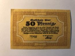 Allemagne Notgeld Allemagne Hohscheid 50 Pfennig - [ 3] 1918-1933 : République De Weimar
