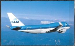 """KLM Boeing 747-400 Unused, (approx 8""""x5"""") - 1946-....: Modern Era"""