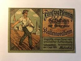 Allemagne Notgeld Allemagne Kaltennordheim 50 Pfennig - [ 3] 1918-1933 : République De Weimar