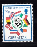 Gibraltar 1973 Mi Nr 298 UK In Euro, Postfris - Gibraltar