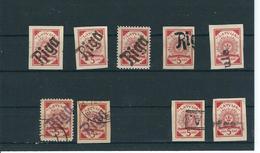 1919 , 5 Kap. , 9 Marken  Mit Not-Stempeln !  #a1576 - Lettland