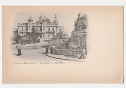 170 - MONTE CARLO - La Façade Du Casino - (Animée) - Monte-Carlo