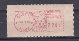 USA 1948 BOSTON PRAGMA FRAMA AUTOMATIC  STAMPS AUTOMATPORTO AUTOMATENMARKEN AUTOMAT MÄRKE - Precancels
