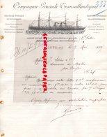 17- LA PALLIE- 75- PARIS- RARE LETTRE MANUSCRITE COMPAGNIE GENERALE TRANSATLANTIQUE-CGT-A. D' ORBIGNY FAUSTIN FILS-1897 - Transport