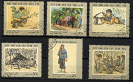 VIETNAM NORD, NORTH VIET-NAM 1969, Yvert 635/40, CAMPAGNE DE RALLIEMENT, 6 Valeurs, Oblitérés / Used. R135 - Viêt-Nam