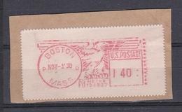 USA 1950 BOSTON PRAGMA FRAMA AUTOMATIC  STAMPS AUTOMATPORTO AUTOMATENMARKEN AUTOMAT MÄRKE - United States