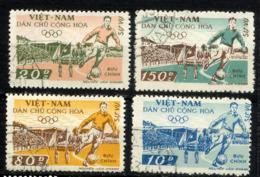 VIETNAM NORD, NORTH VIET-NAM 1969, Yvert 10/3 Service, Football, Stade D'Hanoi, 4 Valeurs, Oblitérés / Used. R¨178 - Viêt-Nam