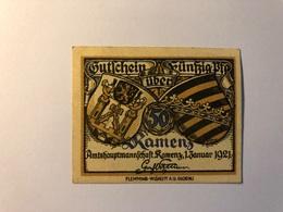 Allemagne Notgeld Allemagne Kamenz 50 Pfennig - [ 3] 1918-1933 : République De Weimar