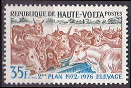 Timbre Neuf ** N° 276(Yvert) Haute-Volta 1972 - 2ème Plan National De Développement, élevage - Upper Volta (1958-1984)